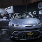 The Fisker Inc. Ocean electric sports utility vehicle (SUV) sits on display at CES 2020 in Las Vegas, Nevada, U.S., on Wednesday, Jan. 8, 2020. Every year during the second week of January nearly 200,000 people gather in Las Vegas for the tech industry's most-maligned, yet well-attended event: the consumer electronics show.