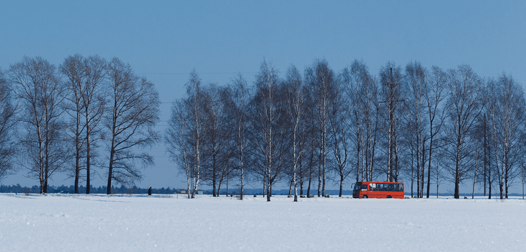 BusHunter-winter-landscape-with-a-red-bus