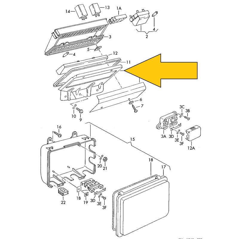 T3 fuse box bracket 79-84 USED 251937593A, 15,50