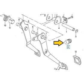 T3 stop buffer clutch pedal (mechanical) till 1982, 2,50