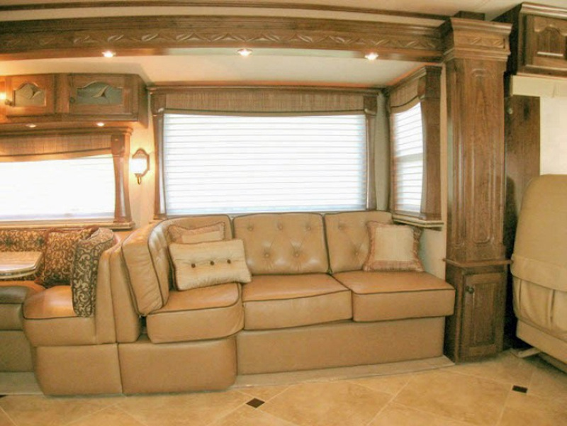 fold out bed sofa old leather makeover 2009 country coach affinity 700 45quad slide