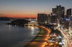 ヘウンデビーチ夜景