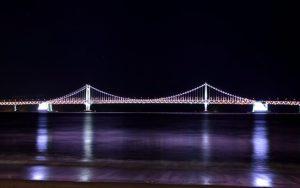 広安大橋(ダイヤモンドブリッジ)夜景