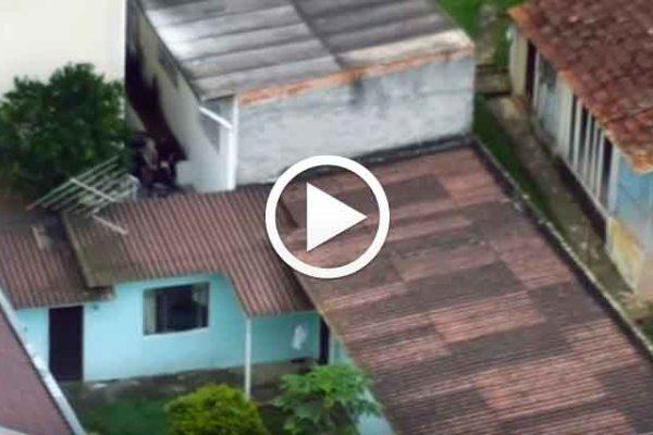 Vídeo mostra momento em que policial da Rone é baleado em tiroteio em SJP