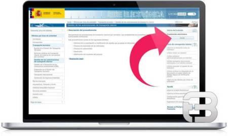 Captura de pantalla para trámites con firma electrónica; autorizaciones o habilitaciones para transporte interior - dirección y firma electrónica en transporte