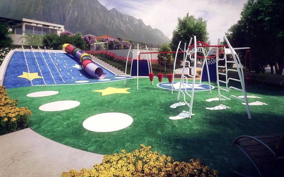 Casas en cumbres Monterrey - Parque - Cumbres Madeira Francés