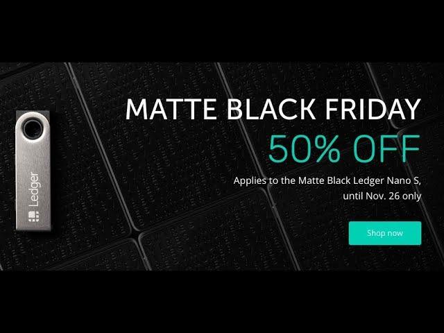 En este momento estás viendo Nano Ledger al 50% Oferta Black Friday Hasta 26 de Nov