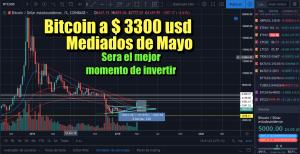 Lee más sobre el artículo Bitcoin en 3300 usd a mediados de Mayo con gran oportunidad de inversion