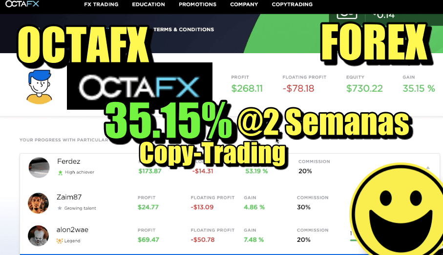En este momento estás viendo OctaFX 35% en 2 semanas en Copy-Trading de Forex