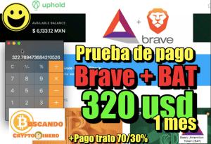 Lee más sobre el artículo Brave 320 usd en 1 mes «Prueba de pago con BAT» y pago de 70/30