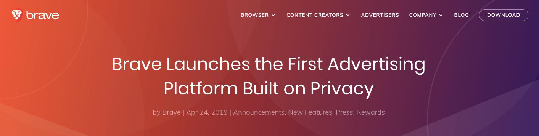 En este momento estás viendo Brave lanza la primera plataforma de publicidad basada en la privacidad