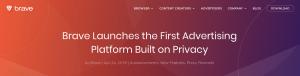 Lee más sobre el artículo Brave lanza la primera plataforma de publicidad basada en la privacidad