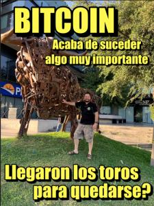 Lee más sobre el artículo BITCOIN acaba de hacer algo MUY IMPORTANTE, llegaron los Toros para quedarse?