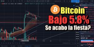 Lee más sobre el artículo Bitcoin bajo 5.8%… Se acabo la Fiesta?