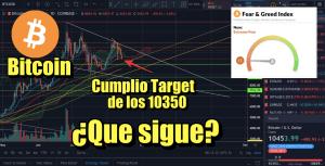 Lee más sobre el artículo Bitcoin cumplio target de 10,350 ¿Que sigue?