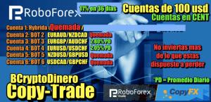Lee más sobre el artículo Roboforex CopyTrade Update 11% en 37 dias