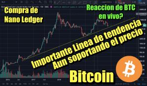 Lee más sobre el artículo Bitcoin Importante linea de tendencia que no se ha roto y Compra de Nano Ledger