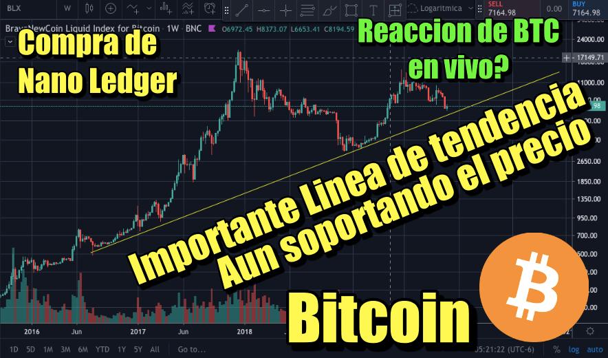 En este momento estás viendo Bitcoin Importante linea de tendencia que no se ha roto y Compra de Nano Ledger