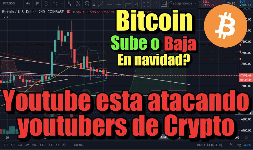 En este momento estás viendo Bitcoin sube o baja en Navidad?  Youtube esta atacando creadores de contenido de crypto