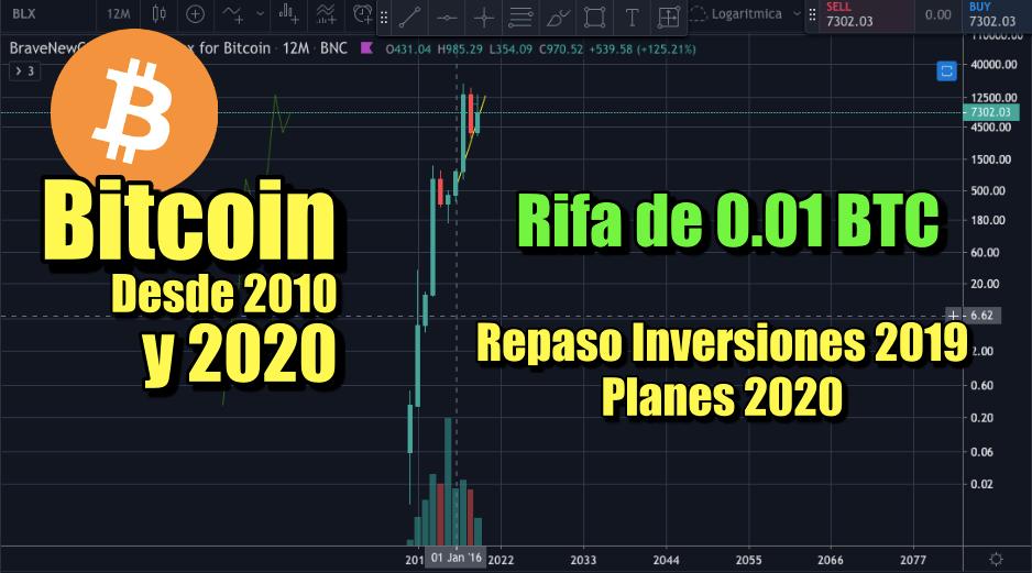 En este momento estás viendo Bitcoin en 2020 + Rifa 0.01 BTC + Repaso inversiones 2019 + Planes 2020