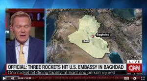 Lee más sobre el artículo Tres cohetes impactaron en el complejo de la embajada de Estados Unidos en Bagdad, dice un funcionario estadounidense