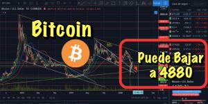 Lee más sobre el artículo Bitcoin puede bajar a los 4880 usd + Notcias y mercados