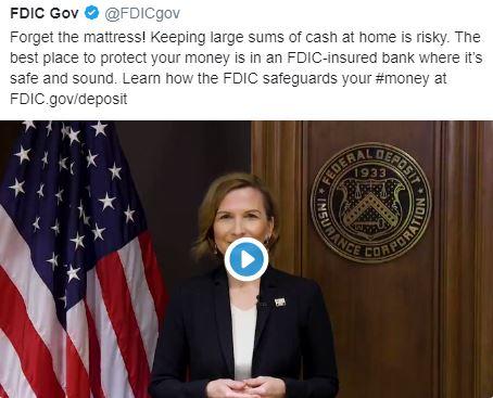 En este momento estás viendo FDIC USA dice que tu dinero esta seguro en los bancos y que no lo saques ***CUIDADO***
