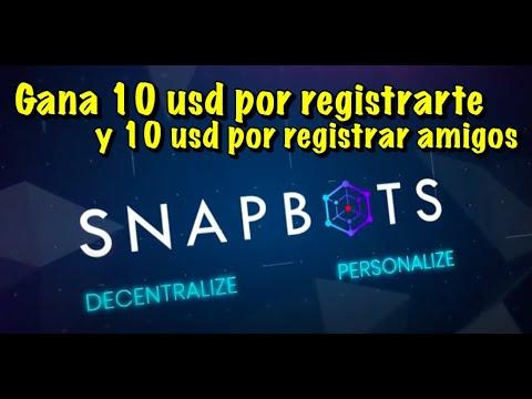 En este momento estás viendo SnapBot Gana 10 USD por reg y 10 USD por invitar personas (hasta Mayo 6). Completar KYC es requerido