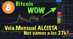 Lee más sobre el artículo Bitcoin SUPER vela mensual… Nos vamos a los 27k???