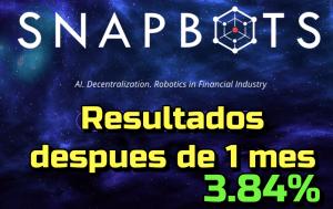 Lee más sobre el artículo SNAPBOT Resultados de 1er mes de Inversion