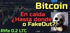 Lee más sobre el artículo Bitcoin en Bajada? Hasta donde o Fakeout?? + Rifa de 0.2 LTC + Noticias