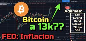 Lee más sobre el artículo Bitcoin a los 13k???  + FED + ETH, Elrond, Band, Polkadot, DGB, Zilliqa !!