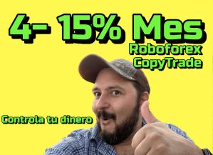 Lee más sobre el artículo 4-15% mensual !!!!! CopyTrade en Roboforex con BCryptoDinero !!!
