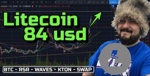 Lee más sobre el artículo Litecoin hacia los 84 usd !!! + BTC, RSR, WAVES, KTON y TristSwap !!