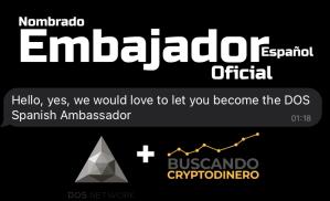 Lee más sobre el artículo Ya somos Embajadores de DOS Network (español)