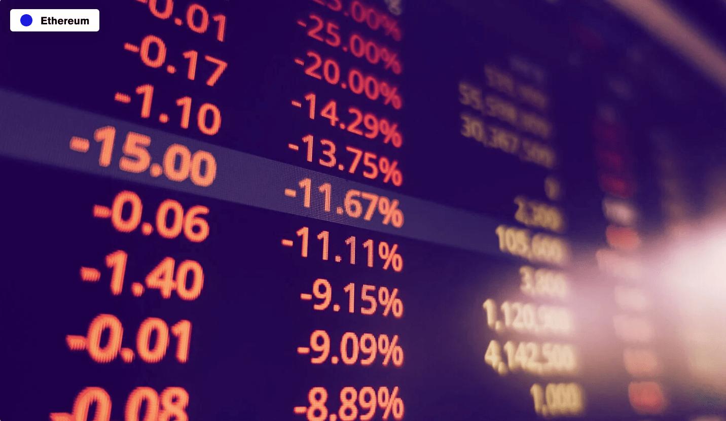 En este momento estás viendo Las tarifas de Ethereum superan los $ 30 en medio de una caída repentina del mercado