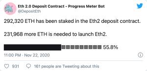 Lee más sobre el artículo Ethereum 2.0 está a medio camino de su lanzamiento, pero aún es probable que se produzca un retraso