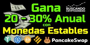 Lee más sobre el artículo 💵 Gana entre 20 y 30% anual con tus Monedas ESTABLES en PancakeSwap !!