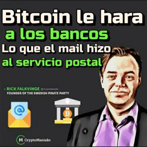 Lee más sobre el artículo Bitcoin le hara a los bancos lo que el Mail le hizo al servicio postal
