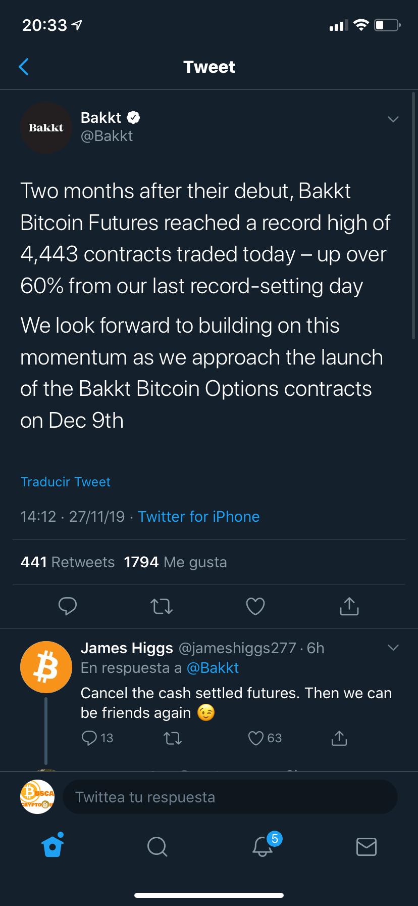 En este momento estás viendo Bakkt nuevo record en 1 dia… 66% mas que el anterior