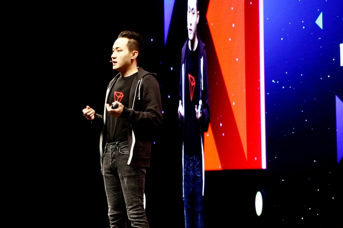 Justin Sun at niTRON Summit 2019 in San Francisco, photo by Brady Dale for CoinDesk
