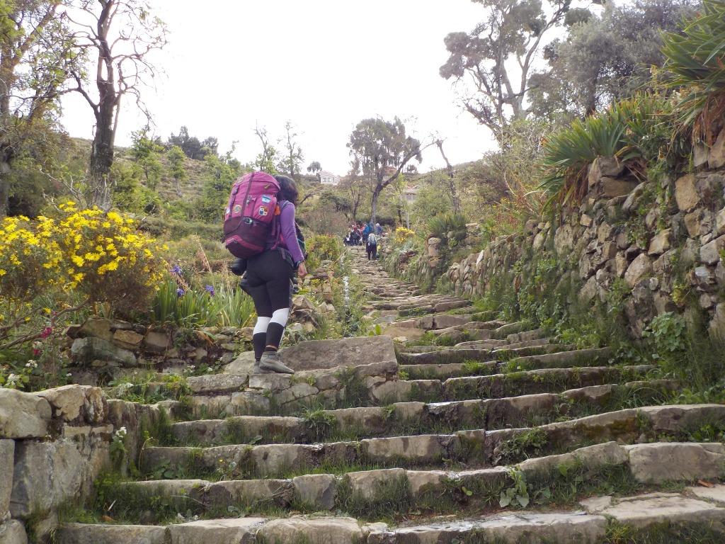 Escaleras del Inca. Isla del Sol, Bolivia