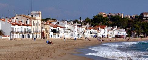 Casas Blancas en la Playa de Altafulla