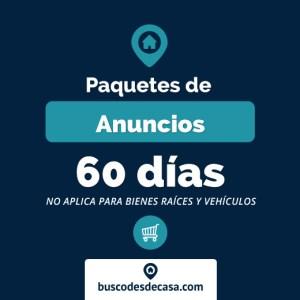 Paquetes de anuncios por 60 días (NO aplica bienes raíces y vehículos)