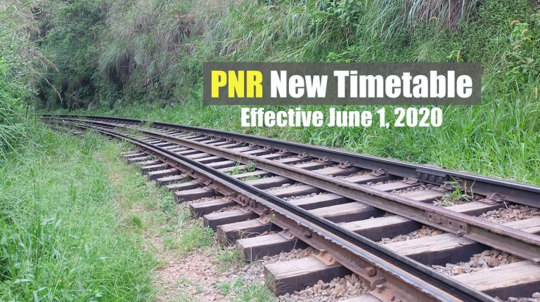 PNR Timetable Effective June 1 Under GCQ