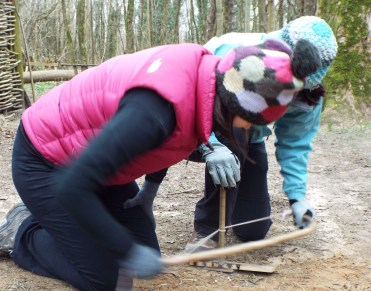 Fire lighting - using the bow drill