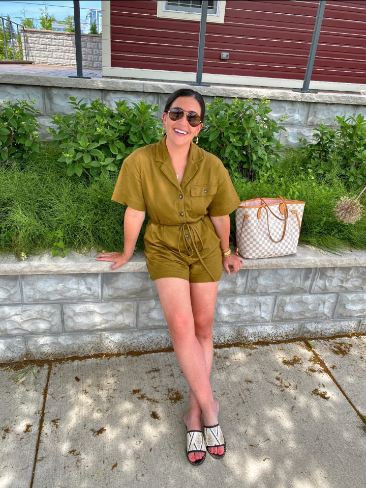 The Olive Green Romper