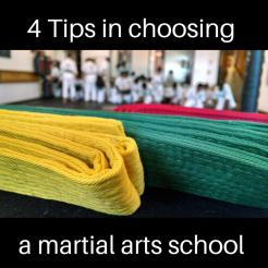 choosing a martial arts school