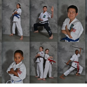 karate students collage