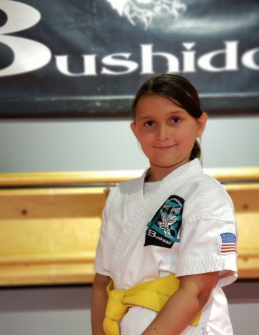Bushido Karate female student